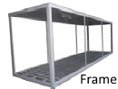 Strutture frame Container, sceletri container